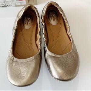 Clarks Grayson Erica Gold Metallic Ballet New 6.5